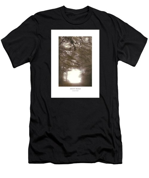 Men's T-Shirt (Athletic Fit) featuring the digital art Misty Road by Julian Perry
