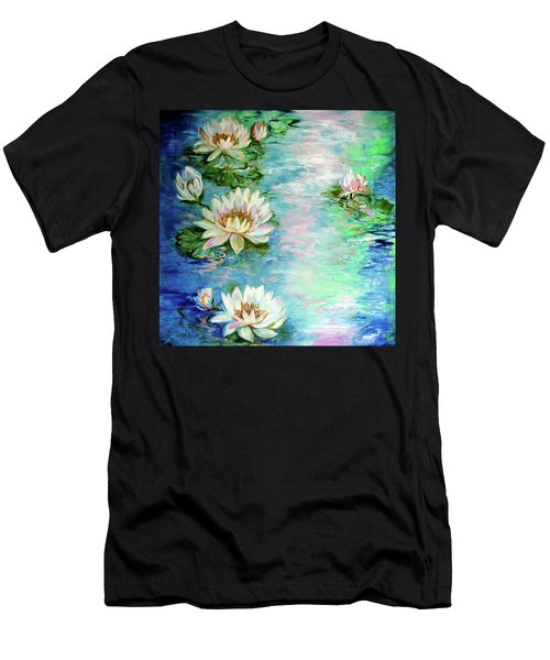 Misty Waters Waterlily Pond Men's T-Shirt (Athletic Fit)