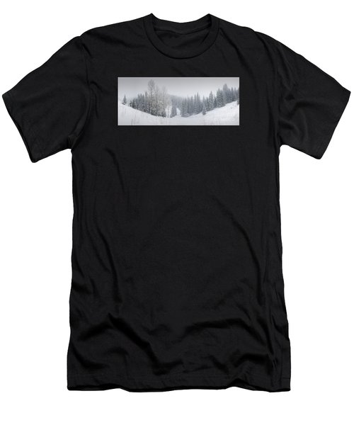 Misty Winter Panorama Men's T-Shirt (Athletic Fit)