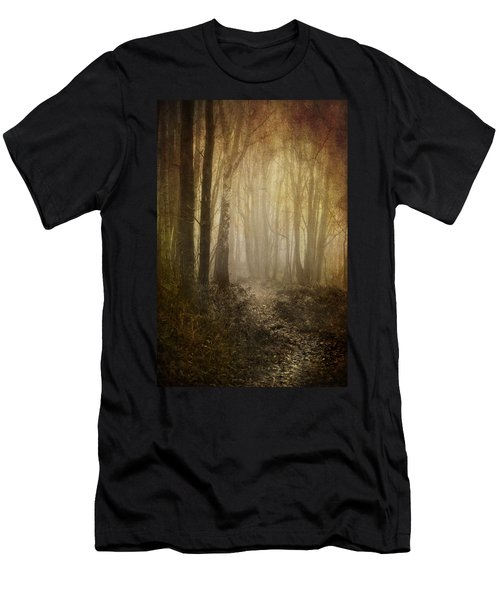 Misty Woodland Path Men's T-Shirt (Athletic Fit)
