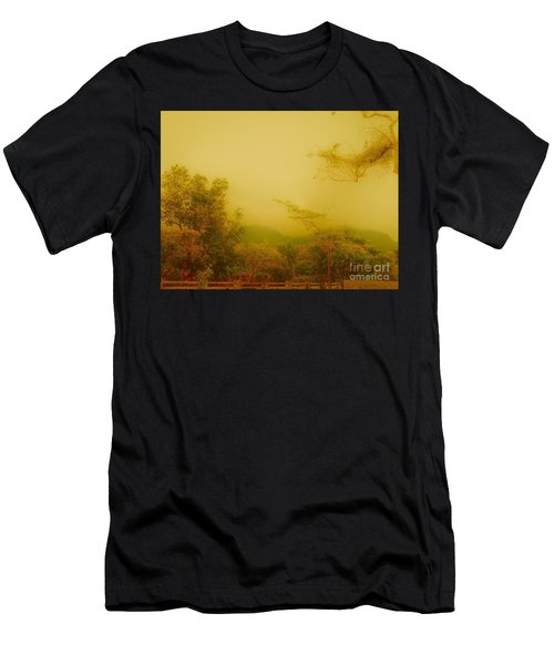 Misty Yellow Hue- El Valle De Anton Men's T-Shirt (Athletic Fit)