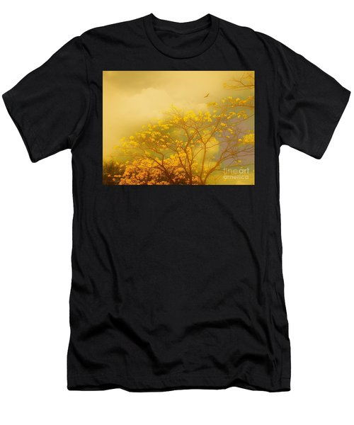 Misty Yellow Hue -poui Men's T-Shirt (Athletic Fit)