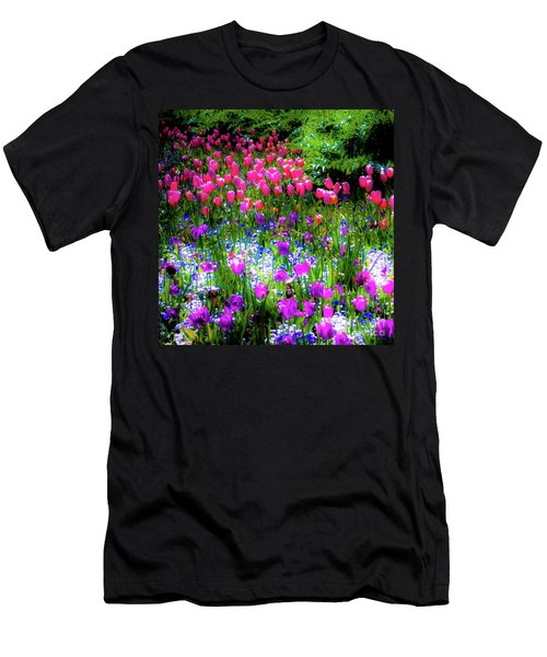 Mixed Flowers And Tulips Men's T-Shirt (Athletic Fit)