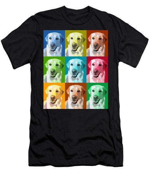 Golden Retriever Warhol Men's T-Shirt (Athletic Fit)