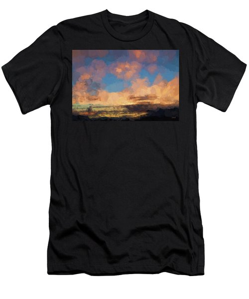 Moab Sunrise Abstract Painterly Men's T-Shirt (Athletic Fit)
