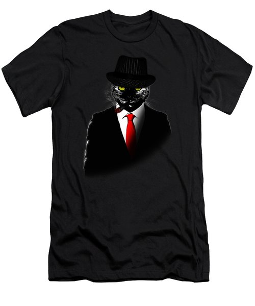Mobster Cat Men's T-Shirt (Athletic Fit)