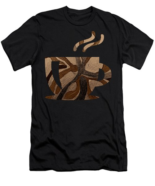 Mocha Java Swirl Men's T-Shirt (Athletic Fit)