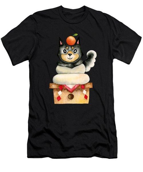 Mochi Shiba Men's T-Shirt (Athletic Fit)