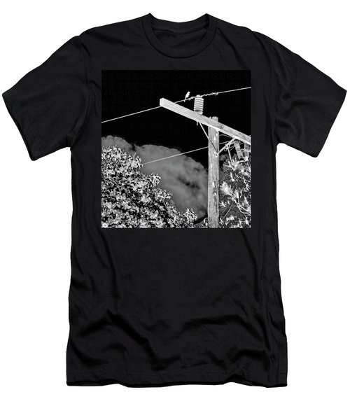 Mockingbird On A Wire Men's T-Shirt (Athletic Fit)