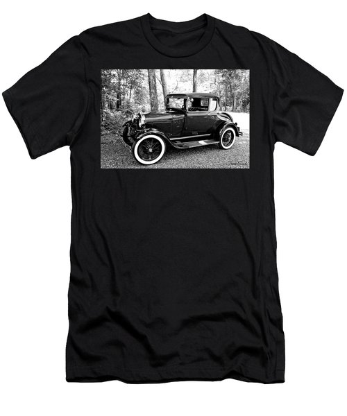 Men's T-Shirt (Athletic Fit) featuring the photograph Model A In Black And White by Trina Ansel