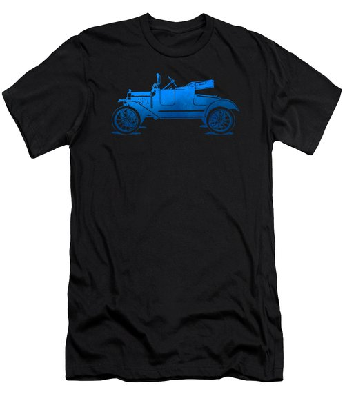 Model T Roadster Pop Art Blue Gradient Men's T-Shirt (Athletic Fit)