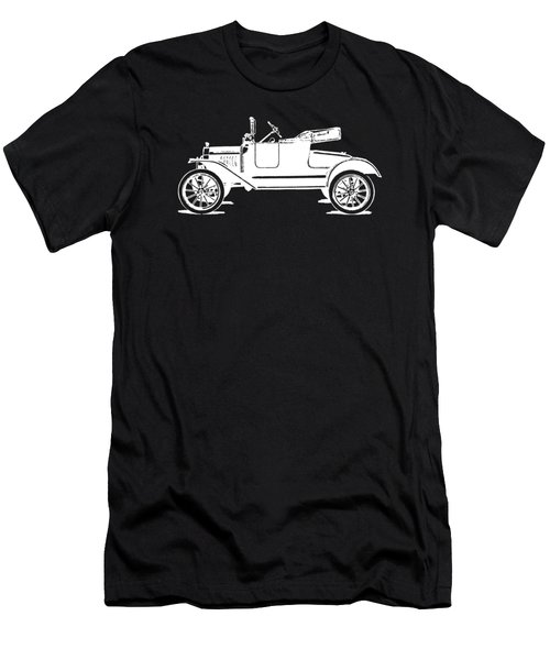Model T Roadster Pop Art White Men's T-Shirt (Athletic Fit)