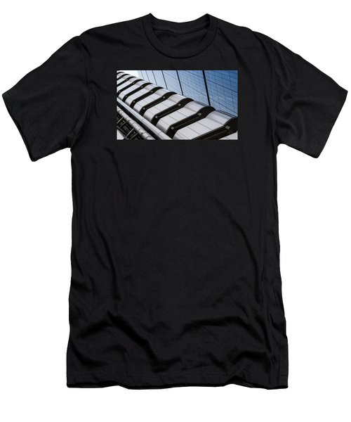 Lloyds Building Bank In London Men's T-Shirt (Slim Fit) by John Williams