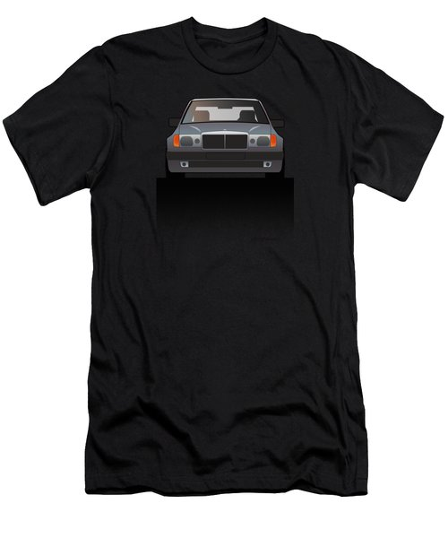 Modern Euro Icons Series Mercedes Benz W124 500e Split  Men's T-Shirt (Athletic Fit)