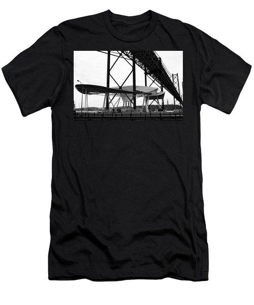 Modern Mass Transit Men's T-Shirt (Slim Fit) by Lorraine Devon Wilke