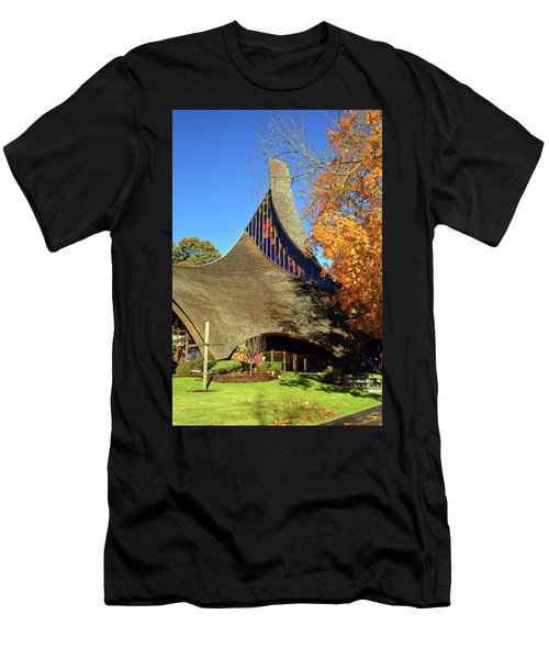 Modern New England Church In Fall Men's T-Shirt (Athletic Fit)