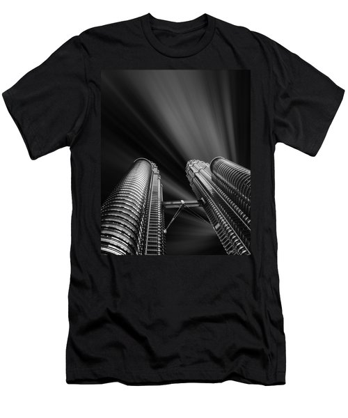 Modern Skyscraper Black And White Picture Men's T-Shirt (Athletic Fit)