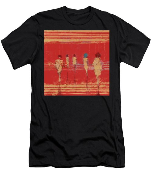 Men's T-Shirt (Athletic Fit) featuring the mixed media Modern Society by Eduardo Tavares