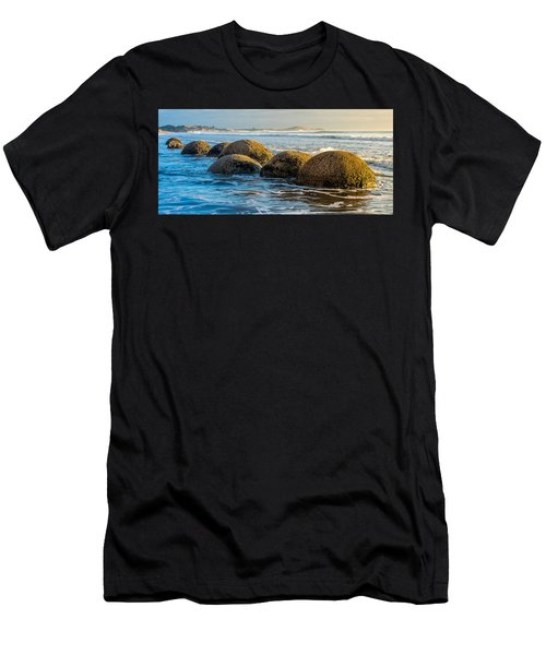 Moeraki Boulders Men's T-Shirt (Slim Fit) by Martin Capek