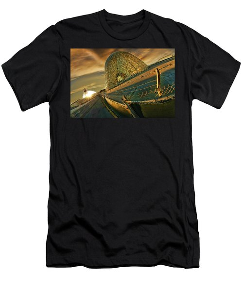 Moffett Field Hangar One At Dusk Men's T-Shirt (Athletic Fit)