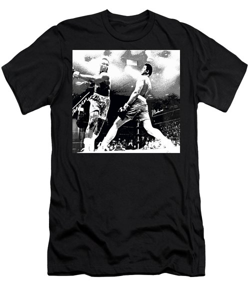 Mohamed Ali Float Like A Butterfly Men's T-Shirt (Slim Fit) by Saundra Myles