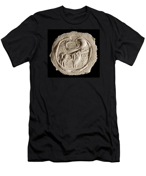 Men's T-Shirt (Slim Fit) featuring the relief Mohenjodaro Seal by Suhas Tavkar