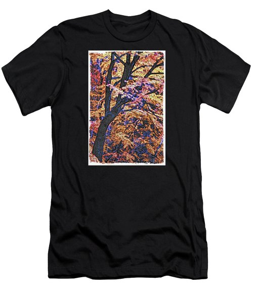 Moku Hanga Autumn Men's T-Shirt (Athletic Fit)