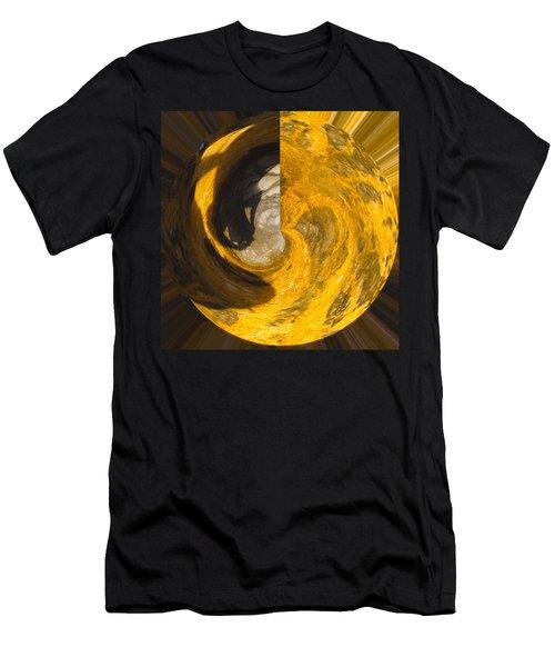 Molten Gold Planet Men's T-Shirt (Athletic Fit)