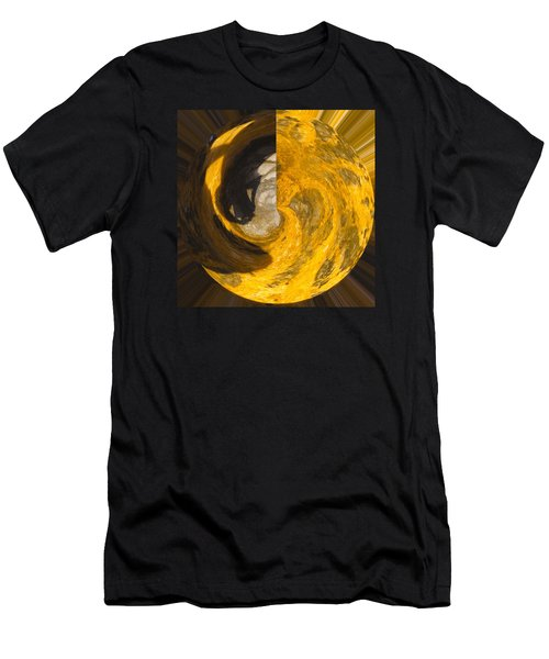 Molten Gold Planet Men's T-Shirt (Athletic Fit)