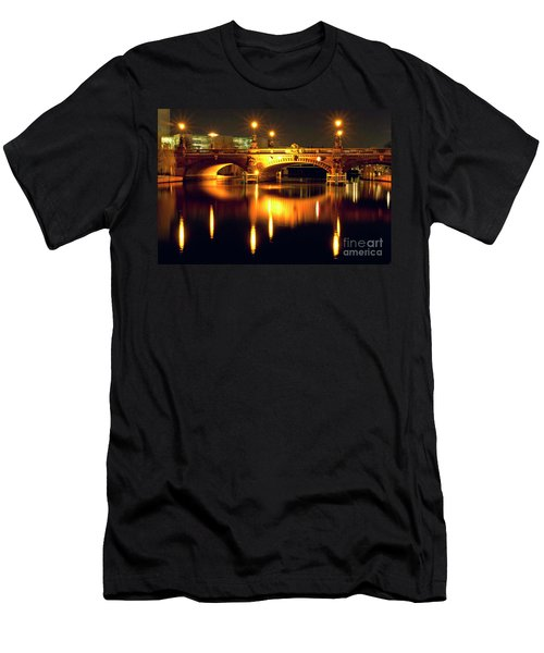 Men's T-Shirt (Athletic Fit) featuring the photograph Nocturnal Sound Of Berlin by Silva Wischeropp
