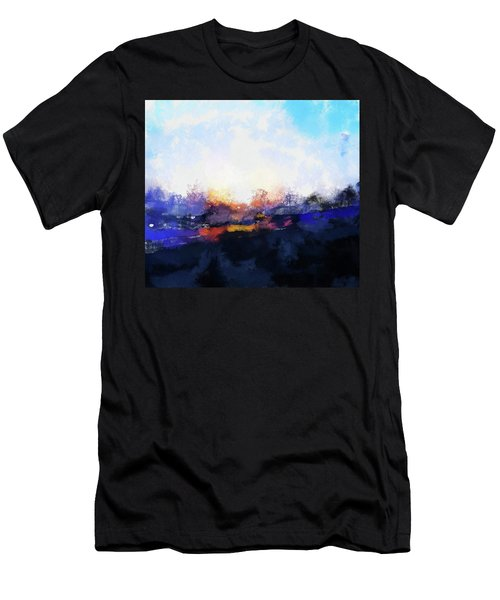 Moment In Blue Spaces Men's T-Shirt (Athletic Fit)