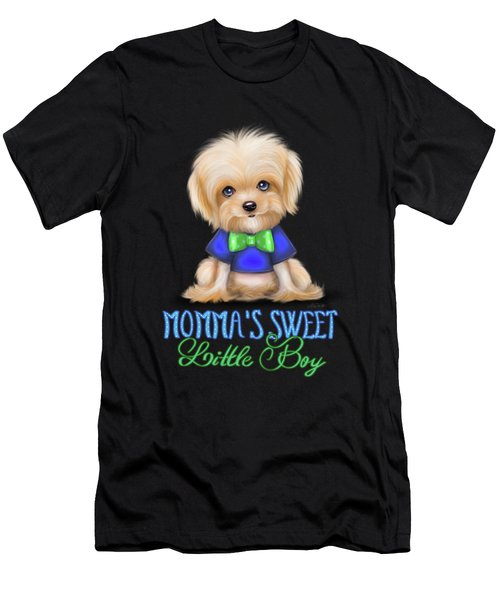 Mommas Sweet Little Boy Men's T-Shirt (Athletic Fit)