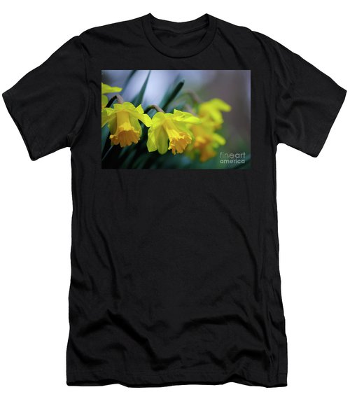 Men's T-Shirt (Slim Fit) featuring the photograph Mom's Daffs by Lois Bryan