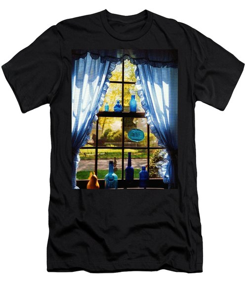 Men's T-Shirt (Slim Fit) featuring the photograph Mom's Kitchen Window by John Scates