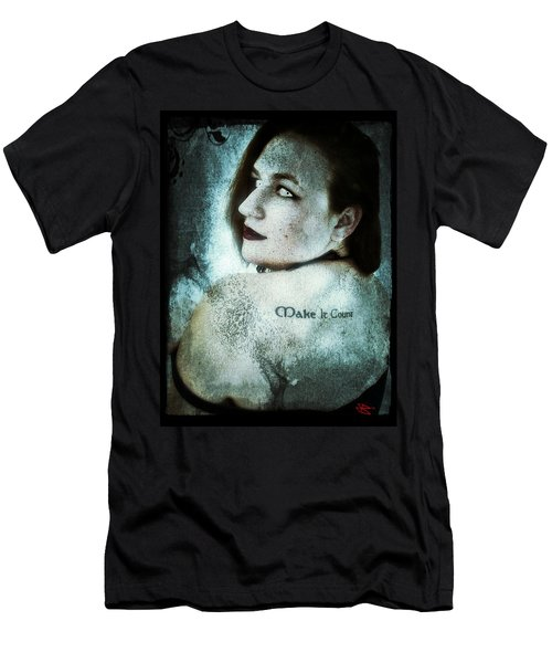 Men's T-Shirt (Slim Fit) featuring the digital art Mona 1 by Mark Baranowski