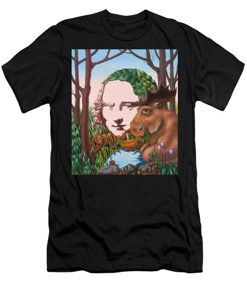 Mona Lisa . Earth Men's T-Shirt (Athletic Fit)