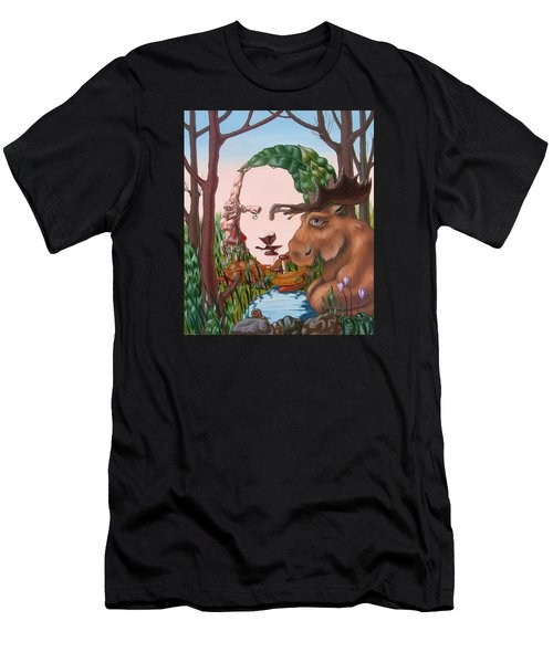 Mona Lisa . Earth Men's T-Shirt (Athletic Fit)