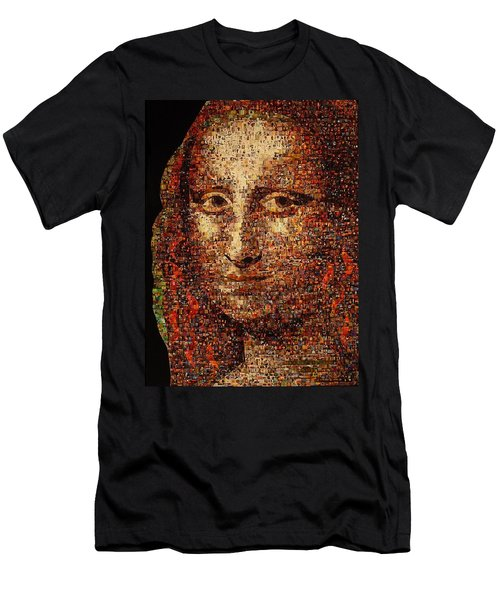 Mona Lisa Men's T-Shirt (Athletic Fit)