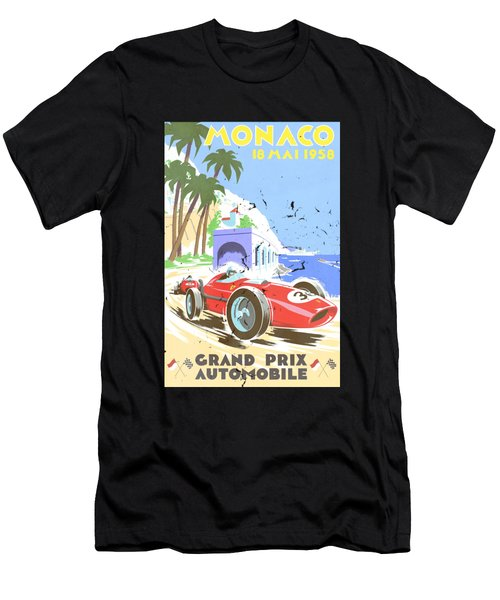 Monaco 1958 Men's T-Shirt (Athletic Fit)