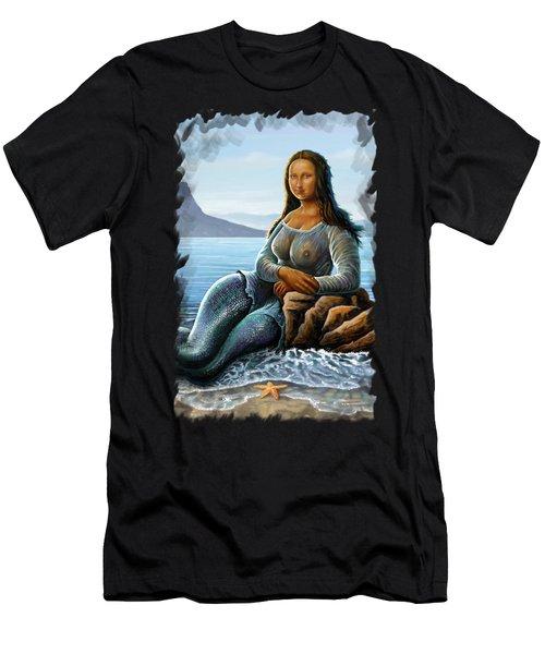 Monalisa Mermaid Men's T-Shirt (Athletic Fit)