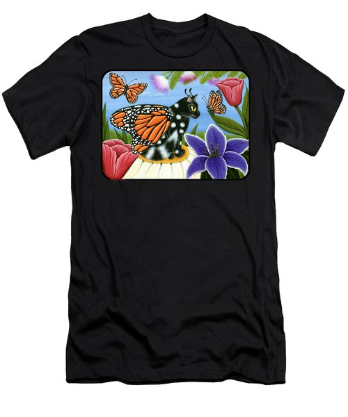 Monarch Butterfly Fairy Cat Men's T-Shirt (Athletic Fit)