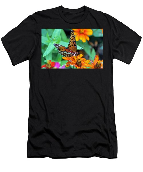 Monarch Butterfly Resting Men's T-Shirt (Athletic Fit)