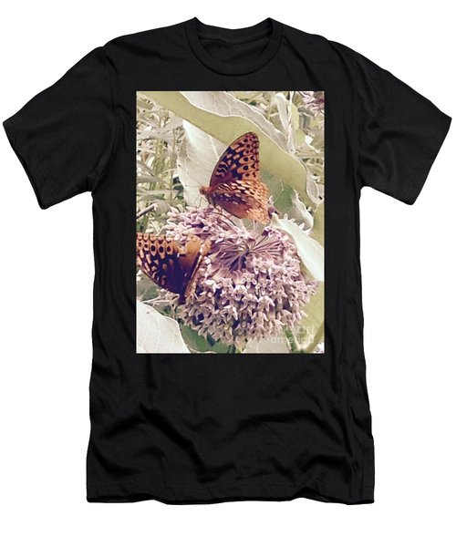 Monarch's On Milkweed Men's T-Shirt (Athletic Fit)