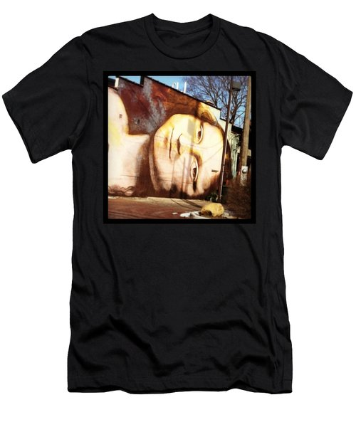 Mona's Facial Expression Men's T-Shirt (Athletic Fit)