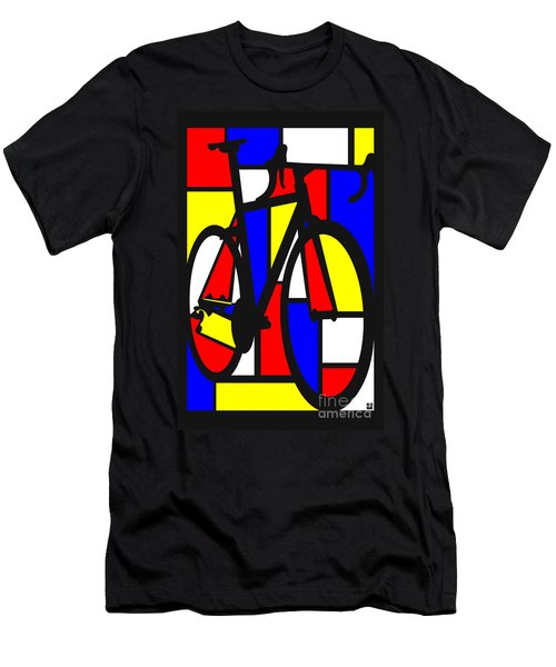 Mondrianesque Road Bike Men's T-Shirt (Athletic Fit)