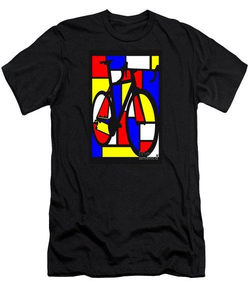 Mondrianesque Road Bike Men's T-Shirt (Athletic Fit)