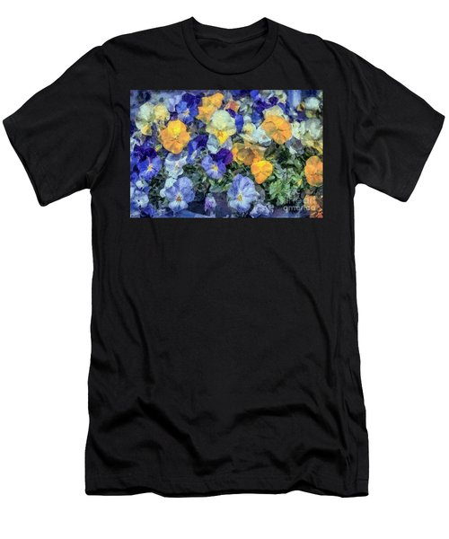 Monet's Pansies Men's T-Shirt (Athletic Fit)