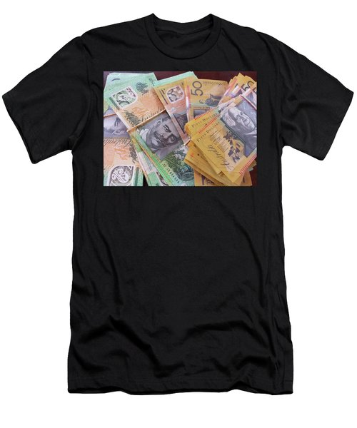 Men's T-Shirt (Athletic Fit) featuring the photograph Money by Debbie Cundy