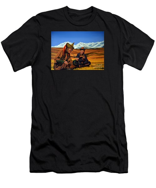 Mongolia Land Of The Eternal Blue Sky Men's T-Shirt (Athletic Fit)