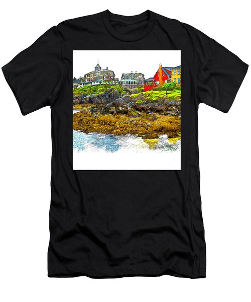 Monhegan West Shore Men's T-Shirt (Athletic Fit)